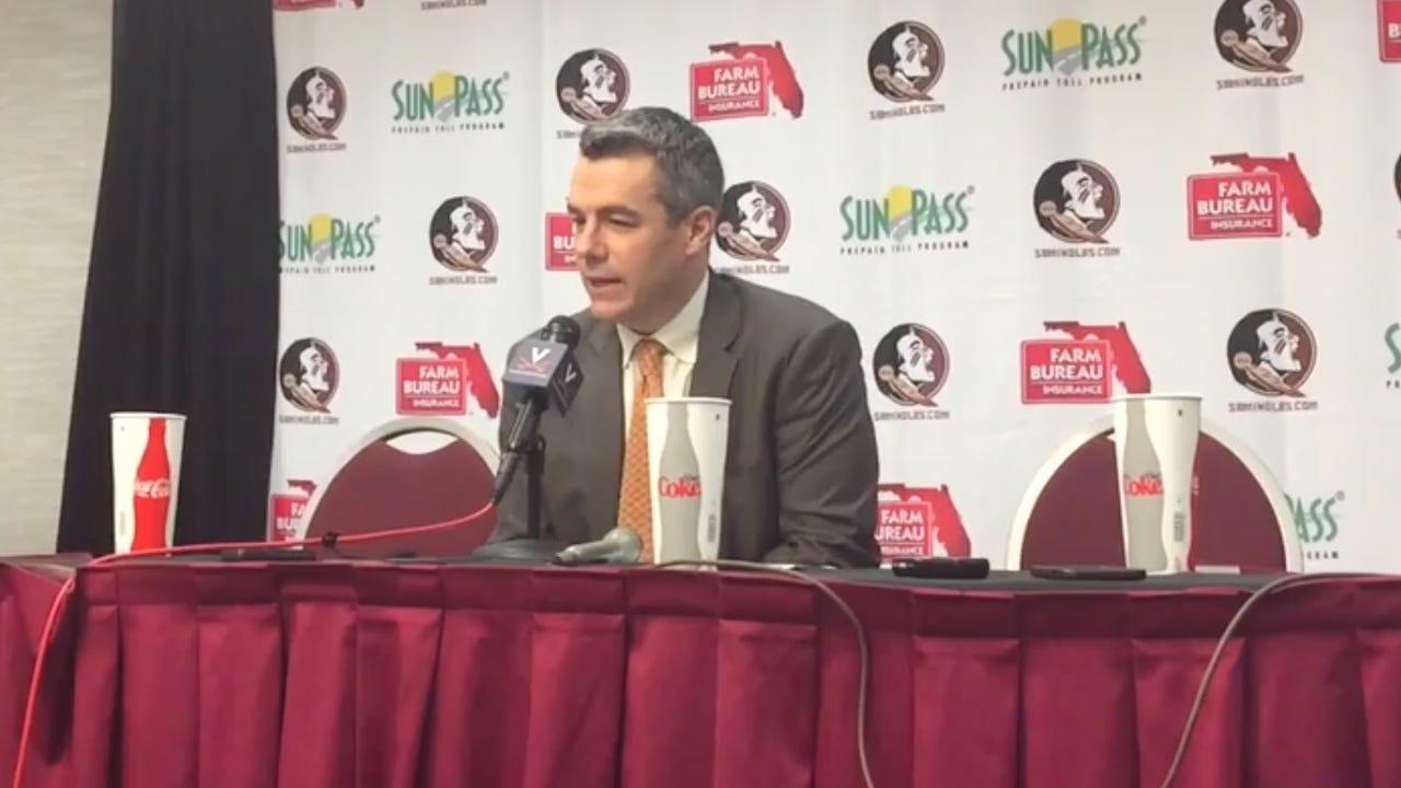 Watch it: Virginia coach Tony Bennett talks after win over FSU