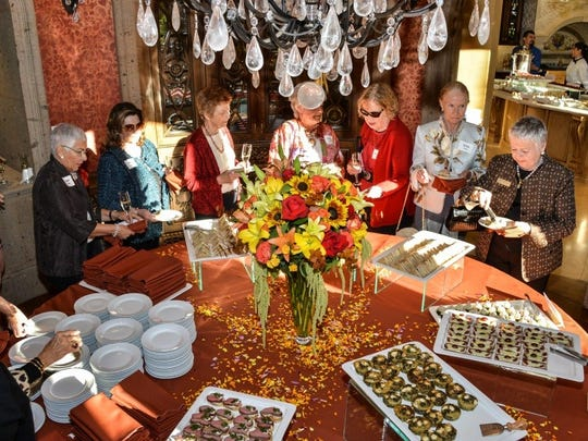 A lovely spread at the Muses & Patroness Circle Annual Membership Tea. (Photo by David A. Lee)
