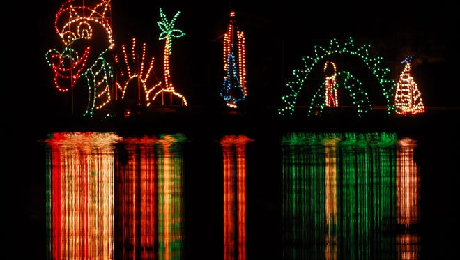 The Space Coast Lightfest at Wickham Park in Melbourne — holiday lights without the snow.