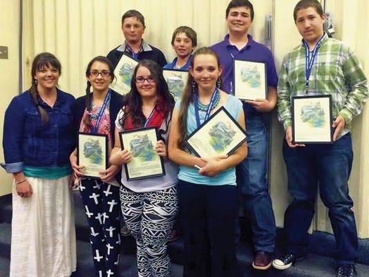This year's eighth grade Leadership Lincoln graduates representing Corona.