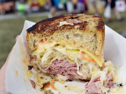 A sandwich from Vie Vie's Gourmet Reubens is pictured at foodstruck. The culinary event takes place Sept. 6 at Penn Park in York City.