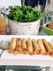 Lumpia Shanghai spring rolls at The Magayon Restaurant