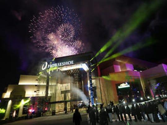 Horseshoe Casino opening night fireworks
