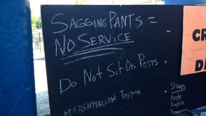 Photos: Saggy pants, NO ice cream