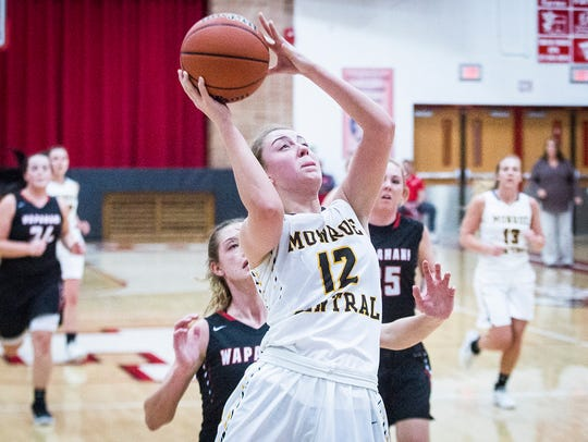 Monroe Central's Jordyn Barga made the All-MEC team and led the Golden Bears to a 19-6 record.