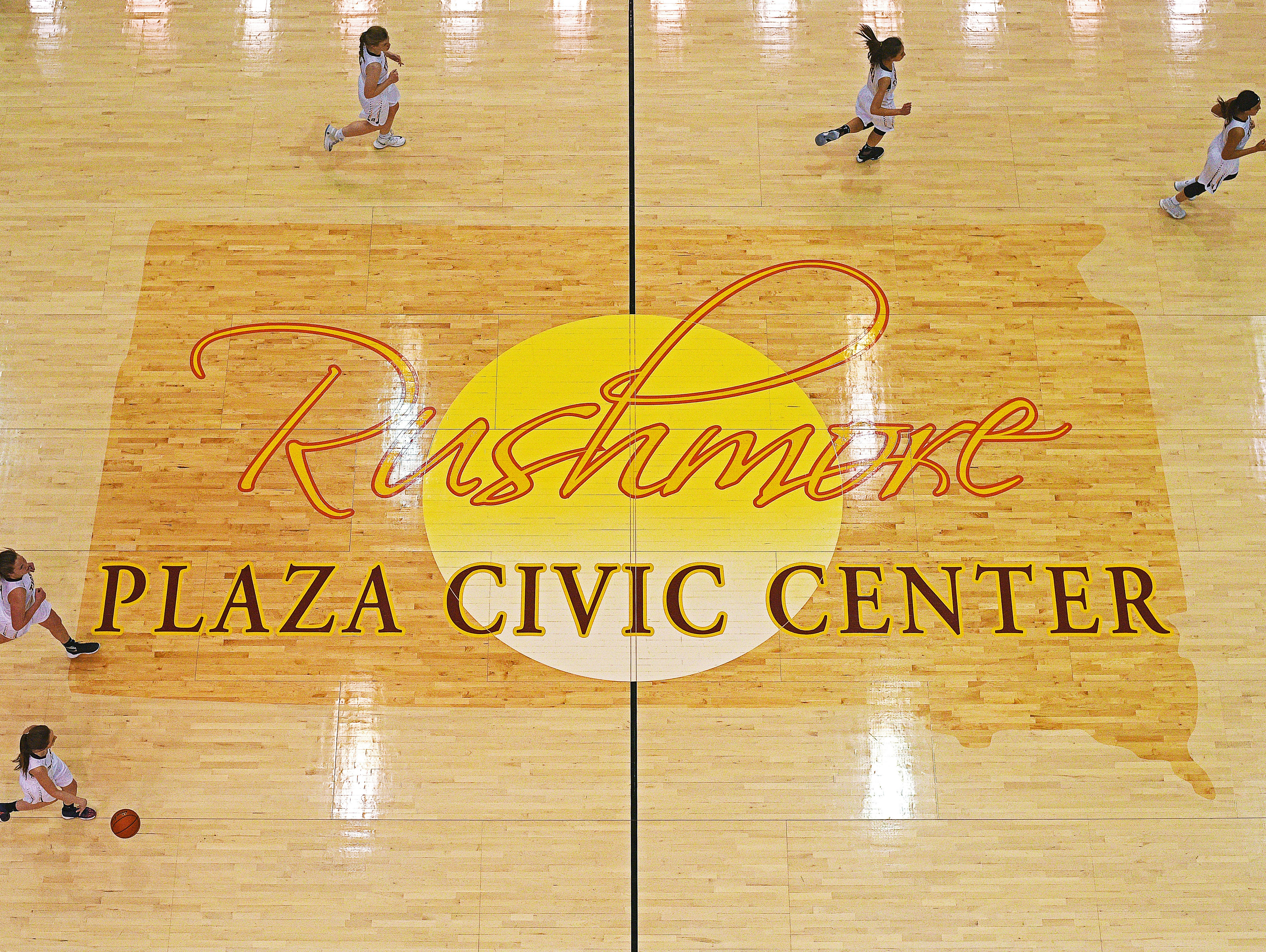 Harrisburg takes on Rapid City Central in a 2017 SDHSAA Class AA State Girls Basketball semifinal game Friday, March 17, 2017, at Rushmore Plaza Civic Center in Rapid City. Harrisburg beat Rapid City Central 49-44, and will play in Saturday's final.