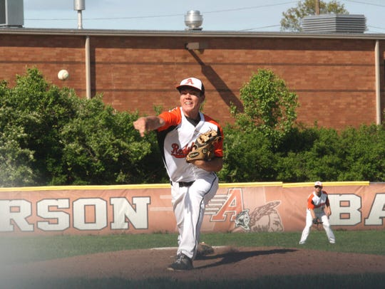 Anderson starting pitcher Will Ladd delivers a pitch