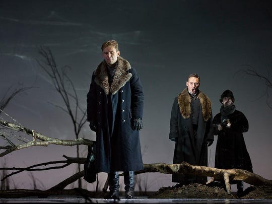 "Break out the dueling pistols when The Metropolitan Opera in New York City broadcasts its lavish production of Tchaikovky's uber-romantic ""Eugene Onegin"" live at 12:55 p.m. Saturday at The Movies at Governor's Square. Tchaikovsky (1840-1893) is best known in the 21st century for his beloved ballet music (""Swan Lake,"" ""The Sleeping Beauty,"" ""The Nutcracker""), his swirling symphonies, some rather amazing concertos (Concerto is D for Violin and Orchestra, Opus 35 is catnip for violinists) and his Fourth of July fireworks music (aka ""The 1812 Overture""). Deep down, though, Tchaikovsky really wanted to be a famous opera composer during his lifetime. ""Eugene Onegin"" is his operatic masterpiece. Tickets are $25.80 for adults, $23.64 for seniors and $19.35 for children. Visit www.fandango.com."