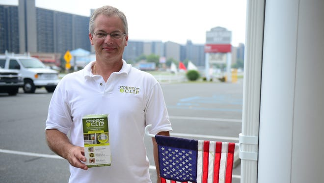 Christopher Gibbons is president of Connect a Clip based out of Lincoln, Del., and manufactured out of Pocomoke, Md. He co-invented a product that helps to display flags and seasonal decor.