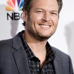 "Blake Shelton arrives at Season 7 Of ""The Voice"" Red Carpet Event on Monday, Nov. 24, 2014, in Universal City, Calif (Photo by Richard Shotwell/Invision/AP)"