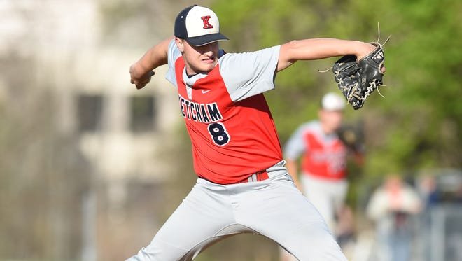 Ketcham's Greg Blum pitches during Wednesday's game at John Jay.