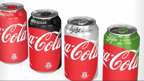 The designs for Coca-Cola's new cans are a big change.