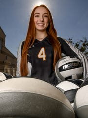 Gabby Easton, T.L. Hanna High School senior setter who led the Yellow Jackets during their successful season, is the Independent Mail volleyball player of the year.