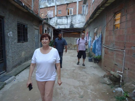 Pam Schumacher during a mission trip to Rio.