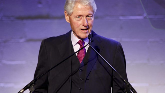 "FILE - In a Thursday, Oct. 6, 2016 file photo, former President Bill Clinton attends the Jon Bon Jovi Soul Foundation (JBJSF) benefit gala, celebrating ten years of combating hunger and homelessness, at The Garage, in New York. Donald Trump has accused the former president of ""rape,"" Hillary Clinton of being an ""enabler"" and threatened to shift those issues from his Twitter feed to the presidential debate stage on Sunday, Oct. 9, 2016. (Photo by Andy Kropa/Invision/AP, File)"