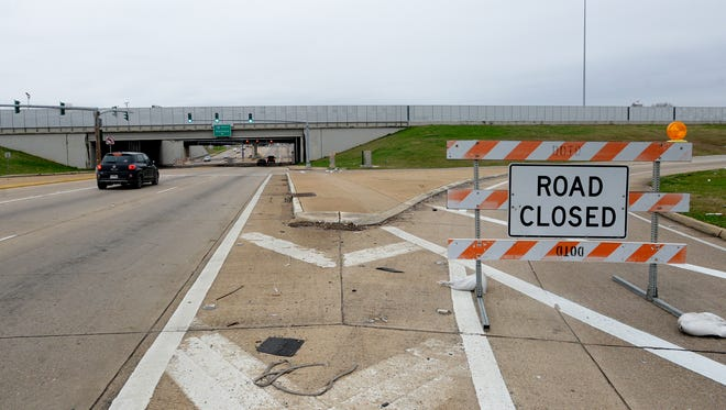 I-49 closed because of weather.