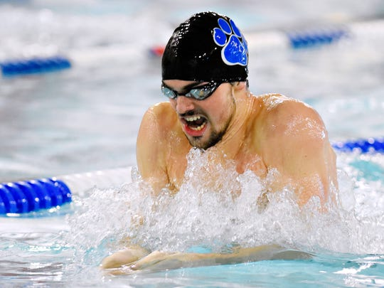 Dallastown's Logan Brockway is a first-team York-Adams League swimming all-star in three events. YORK DISPATCH FILE PHOTO