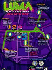 LUMA organizers released a map of the projections being