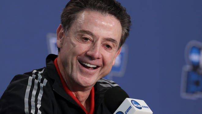 U of L head coach Rick Pitino talked about defeating Jacksonville State and advancing to the round of 32 against Michigan during a NCAA tournament press conference at the Bankers Life Fieldhouse in Indianapolis.Mar. 18, 2017