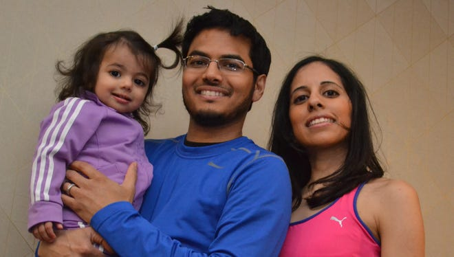 Dr. Alok Gupta with his wife, Dr. Priya Gupta, and their daughter, Ishani.