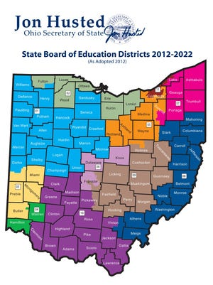 Map of Ohio Board of Education Districts