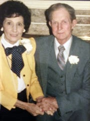 Mrs. Willie Davidson with her late husband Buster Davidson.