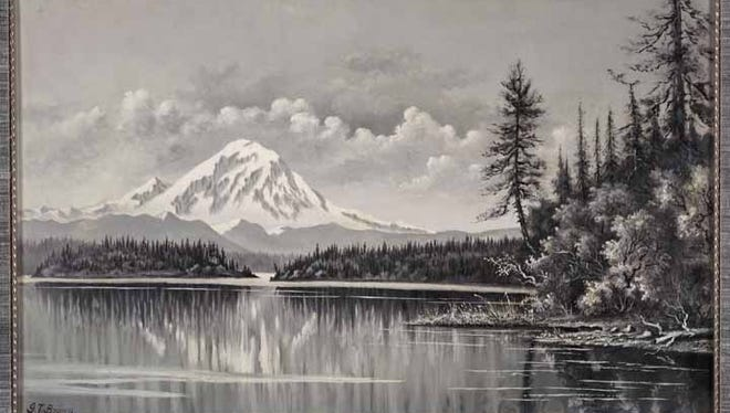 Brown Depicts Mount Tacoma from Lake Washington in 1885