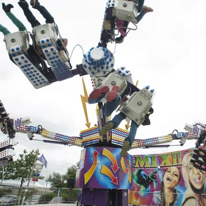 The Remix II is a new ride at the Manitowoc County Fair this year.