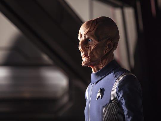 'Star Trek: Discovery' introduces Lt. Saru (Doug Jones), a member of the Kelpien species.
