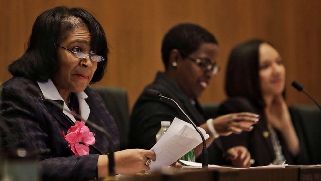 Detroit City Council President Brenda Jones said at the June 21, 2016, council meeting that she will vote against demolition contracts while a federal investigation into the city's blight demolition program is ongoing.