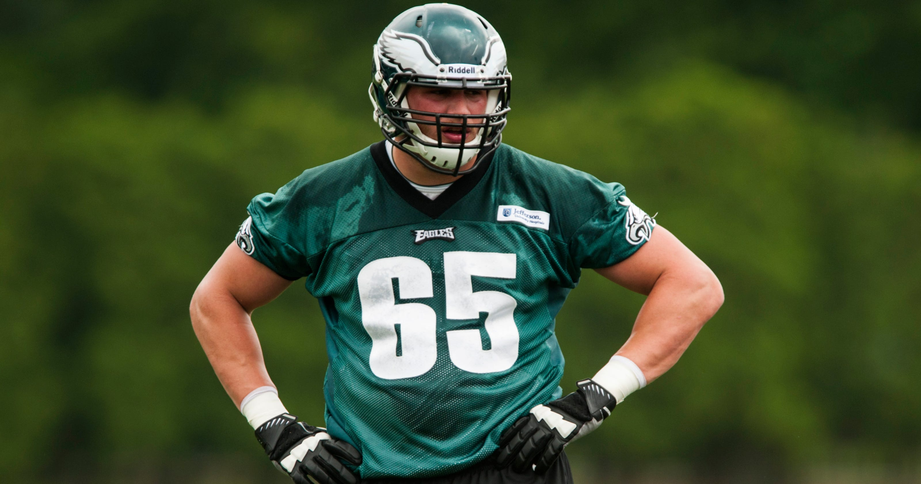 7471cb783bf Eagles' Lane Johnson taking new job and new baby in stride