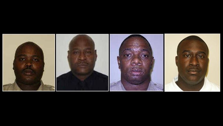Four officers with the Macon-Bibb Sheriff's Office face federal criminal charges. U.S. Attorney Michael Moore and Sheriff David Davis made the announcement at a Friday-afternoon news conference. Three of the officers were fired Friday: They are Decarlo Lattimore, Arthur Howard and Jimmy Denson. A fourth officer resigned. He is Jermaine Hill.