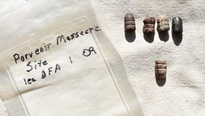 These artifacts were excavated at the Porvenir massacre site.