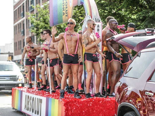 The Absolut Vodka float during last year's Cadillac Barbie IN Pride Parade in Downtown Indianapolis on June 14, 2014,