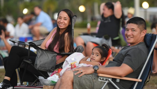 "In this April 2016 file photo, the Manibusan family gets settled in for the show at Movies in the Park at Adelup. The event returns next week to Skinner Plaza, and now is called ""Movies at the Museum"" in partnership with the Guam Museum and the Guam Museum Foundation."