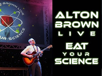 Enter to win 2 tickets to see Alton Brown; A unique combo of music, food and science! Enter 4/17-5/3
