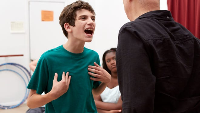 "Tony (Michael Barbieri) works with his acting teacher in ""Little Men."""