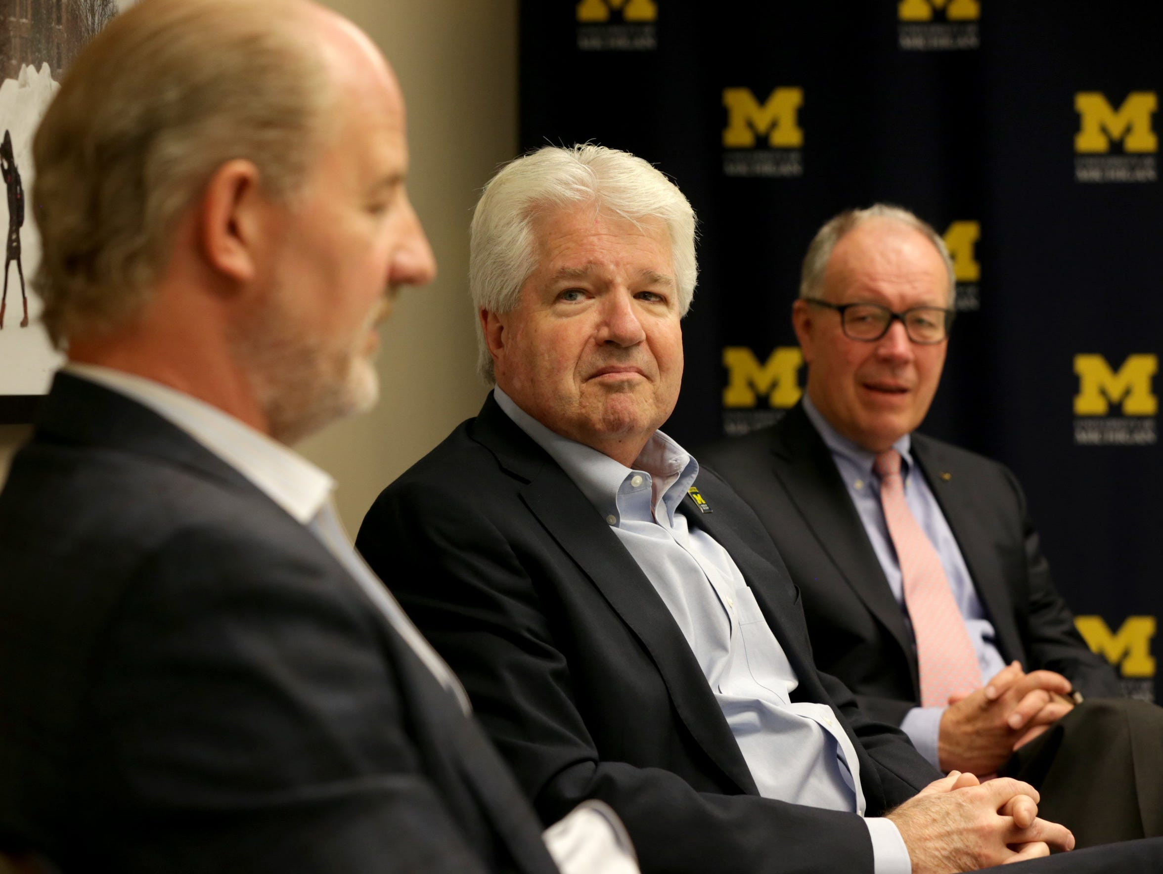 From left, University of Michigan Chief Investment