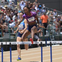 Dalilah Muhammad leads a run of world bests in USA track championships