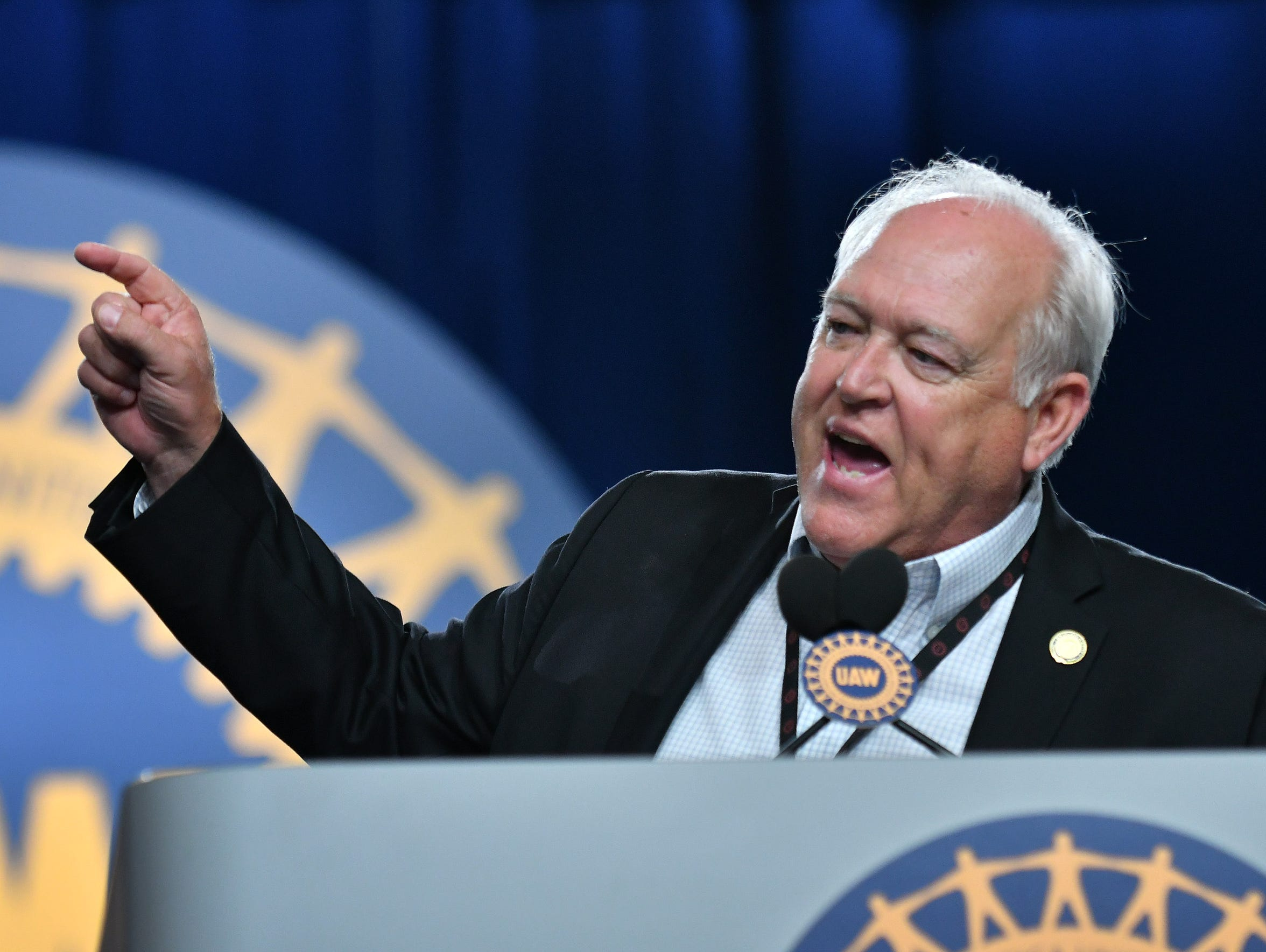 UAW president Dennis Williams speaks at the UAW 37th