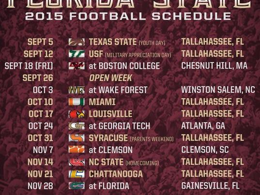 Clemson Football Schedule 2015