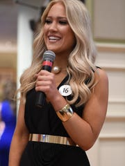 Miss Tennessee Soybean Laura Ann Higgs -- The Jackson Rotary Club hosted Miss Tennessee 2016 Grace Burgess and the 2017 Miss Tennessee Scholarship Pageant contestants, Wednesday, June 21, 2017 at First United Methodist Church.