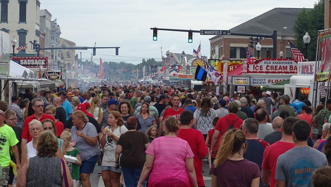 The annual Bucyrus Bratwurst Festival draws thousands of people downtown. This year's festival is set for Aug. 15-17.