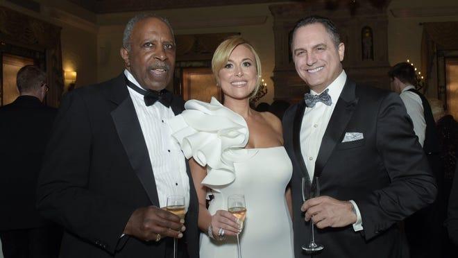 Justice Lubbie Harper Jr., Antonietta Brancaccio-Balzano and Chris Salamone.
