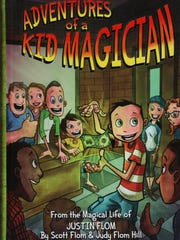 """Justin Flom, a former child magician, teamed with his father Scott, his aunt Judy and his cousin Drew Blom to create, write and illustrate """"Adventures of a Kid Magician."""""""