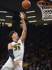 Iowa forward Cordell Pemsl has been a pleasant surprise in his first year in Iowa City.