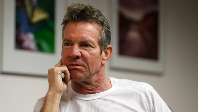 A News-Leader file photo from Dennis Quaid's 2017 trip to Springfield.