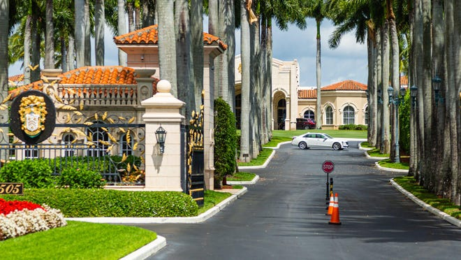 Trump International Golf Club on Summit Boulevard outside of West Palm Beach is open Tuesday under coronavirus pandemic measures only for members to pick up their golf clubs or to get items from their lockers, according to security personnel.