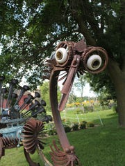 Baraboo artist Dr. Evermore created this peacock sculpture