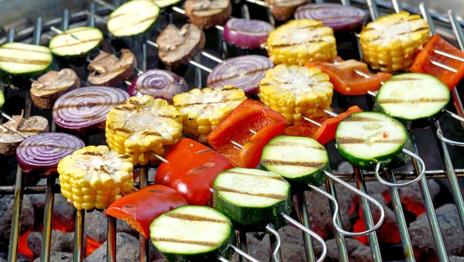 If you're going to grill your meat, make sure you enjoy plenty of cancer-fighting veggies on the side.